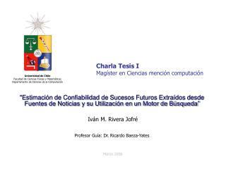 Charla Tesis I Magíster en Ciencias mención computación