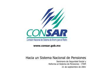 Hacia un Sistema Nacional de Pensiones