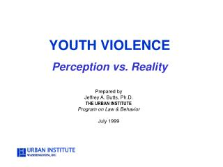 YOUTH VIOLENCE Perception vs. Reality