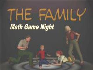 Math Game Night