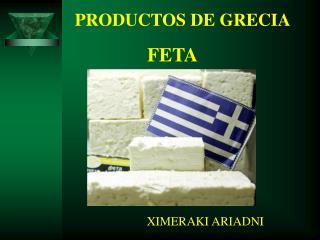 PRODUCTOS DE GRECIA