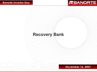 Recovery Bank
