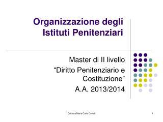 Organizzazione degli Istituti Penitenziari