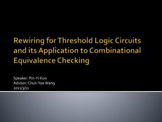 Rewiring for Threshold Logic Circuits and its Application to Combinational Equivalence Checking