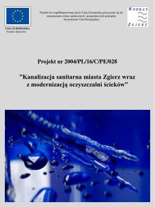 Projekt nr 2004/PL/16/C/PE/028