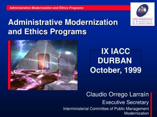 Administrative Modernization and Ethics Programs