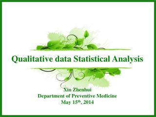 Qualitative data Statistical Analysis
