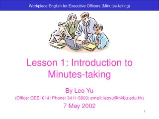 Lesson 1: Introduction to Minutes-taking