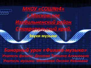 Звуки  музыки