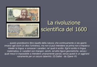 La rivoluzione scientifica del 1600