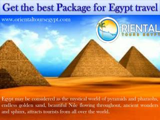 Get the best package for egypt travel