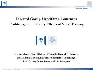 Directed Gossip Algorithms, Consensus Problems, and Stability Effects of Noise Trading