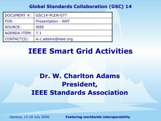 IEEE Smart Grid Activities