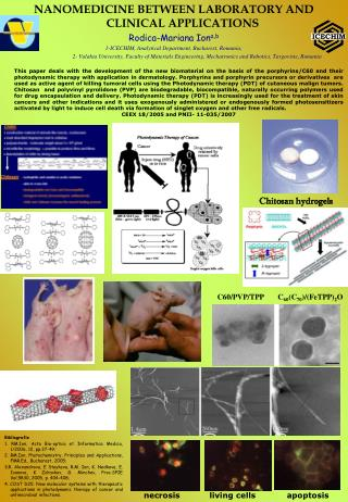 NANOMEDICINE BETWEEN LABORATORY AND CLINICAL APPLICATIONS Rodica-Mariana Ion a,b
