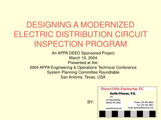 DESIGNING A MODERNIZED ELECTRIC DISTRIBUTION CIRCUIT INSPECTION PROGRAM