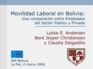 Movilidad Laboral en Bolivia: Una comparación entre Empleados  del Sector Público y Privado