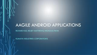 AAGILE Android Applications
