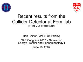 Recent results from the Collider Detector at Fermilab  (for the CDF collaboration)