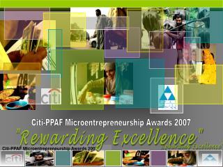 Citi-PPAF Microentrepreneurship Awards 2007