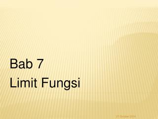 Bab 7 Limit Fungsi