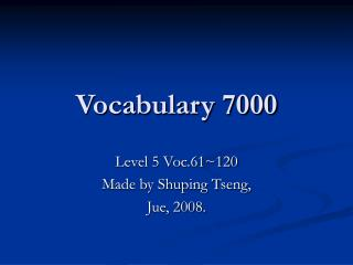 Vocabulary 7000
