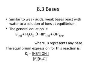 8.3 Bases