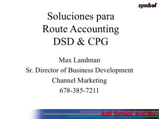 Sol uciones para Route Accounting DSD & CPG