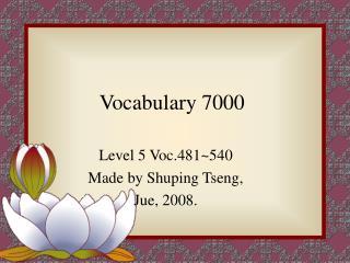 Vocabulary 7000