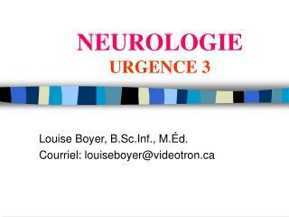 NEUROLOGIE URGENCE 3