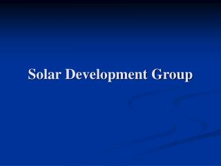 Solar Development Group