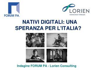 NATIVI DIGITALI: UNA SPERANZA PER L'ITALIA?