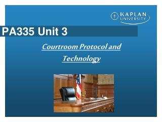 PA335 Unit 3