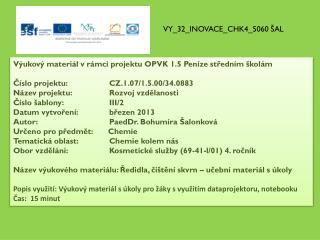 VY_32_INOVACE_CHK4_5060 ŠAL