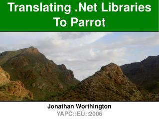 Translating .Net Libraries To Parrot