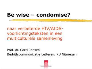 Naar verbeterde HIV