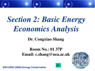 Section 2: Basic Energy Economics Analysis