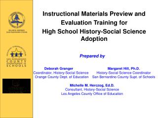 Instructional Materials Preview and Evaluation Training for