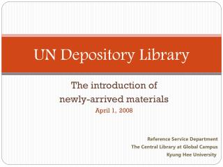 UN Depository Library