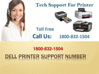 1-800-832-1504 Dell Printer Support Number