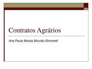 Contratos Agrários