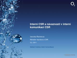Interní CSR a návaznosti v interní komunikaci CSR