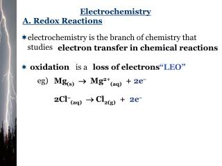 A. Redox Reactions