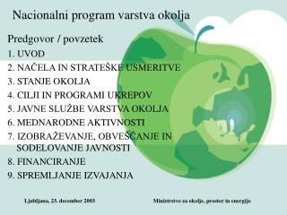 Nacionalni program varstva okolja