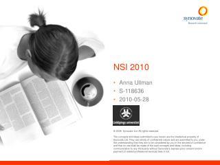 NSI 2010