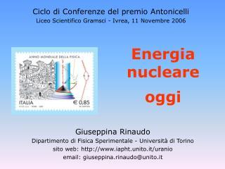Energia nucleare oggi