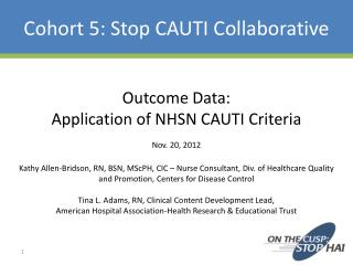 Cohort 5: Stop CAUTI Collaborative