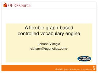 A flexible graph-based controlled vocabulary engine