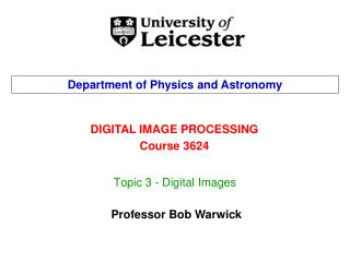 Topic 3 - Digital Images