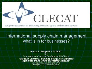 International supply chain management what is in for businesses