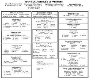 Shelving & Annexes Section (8-3372 / B-13-F) * S. Dennis (8-3225 / B-10-C2)
